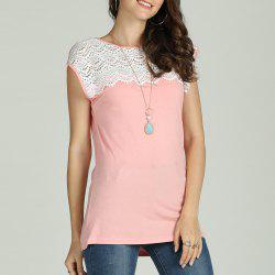 SBETRO Women T-Shirt Hollow Out Embroidered Sleeveless -