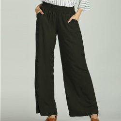 SBETRO Wide Leg Pants Solid Casual Loose Female Trousers Sporty -