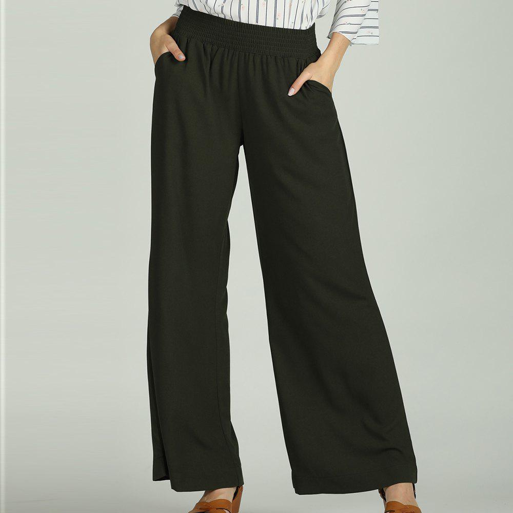 Cheap SBETRO Wide Leg Pants Solid Casual Loose Female Trousers Sporty