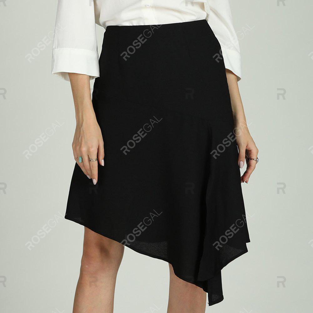 Unique SBETRO Solid Skirt Dressy Casual Officewear for Ladies