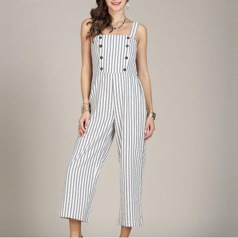 SBETRO Striped Women Jumpsuit Rompers