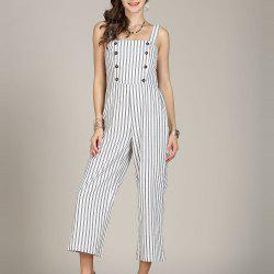SBETRO Striped Women Jumpsuit Rompers -