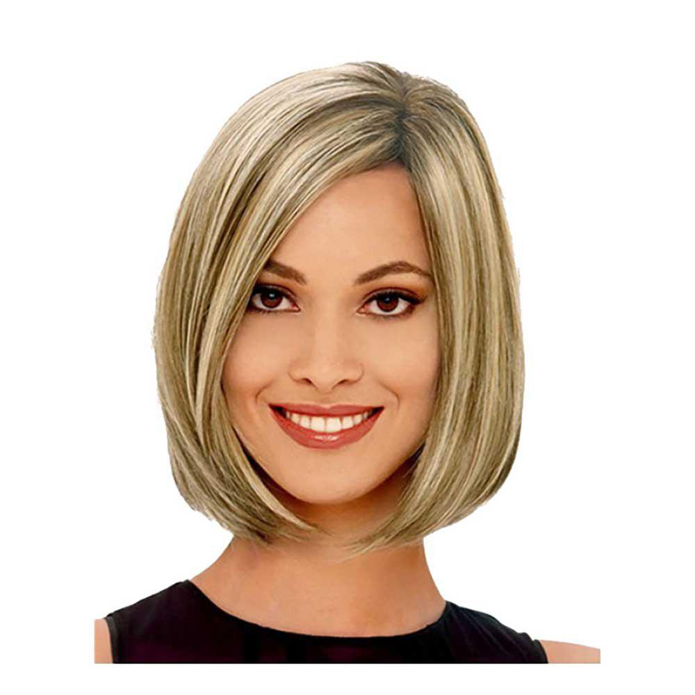 Affordable New Style Ruili Has Straight Blonde Hair Bobo Hair Ladies Wig