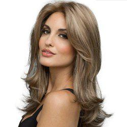 Stylish Sexy Lady Halve Long Curly Hair High Temperature Synthetic Wig -