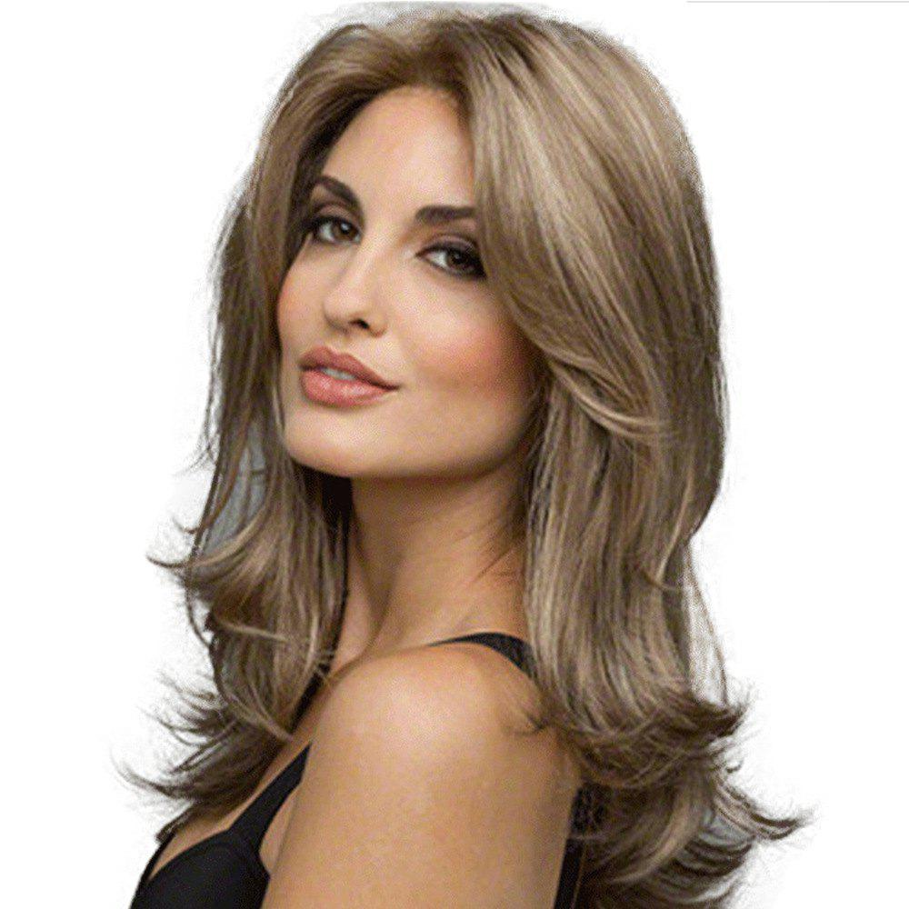 Cheap Stylish Sexy Lady Halve Long Curly Hair High Temperature Synthetic Wig