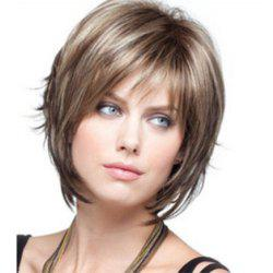 Fashion and Realistic Women with Short Hair in Miniature High Temperature Wig -