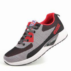 Men Breathable Lightweight Fly Woven Mesh Sports Leisure Running Shoes -