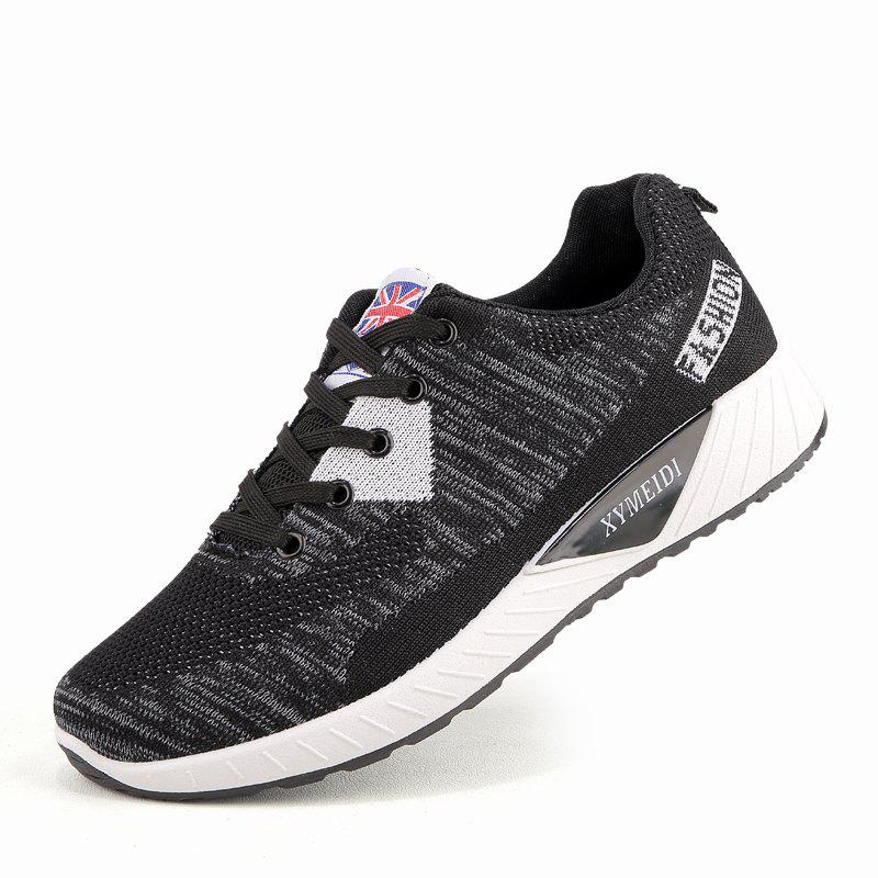 Chic Men Breathable Lightweight Fly Woven Mesh Sports Leisure Running Shoes