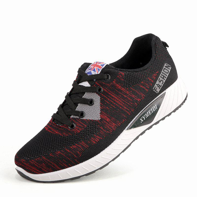 Shop Men Breathable Lightweight Fly Woven Mesh Sports Leisure Running Shoes