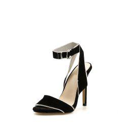 Sandales Stiletto Femme Sexy Party Shoes avec boucle -