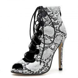 Women's Peep Toe Stiletto Sandals Fashion Party Shoes with Checkered -