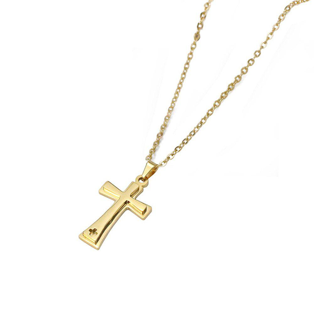 Shops Cross Pendant Vintage Titanium Steel Stylish Simple Necklace