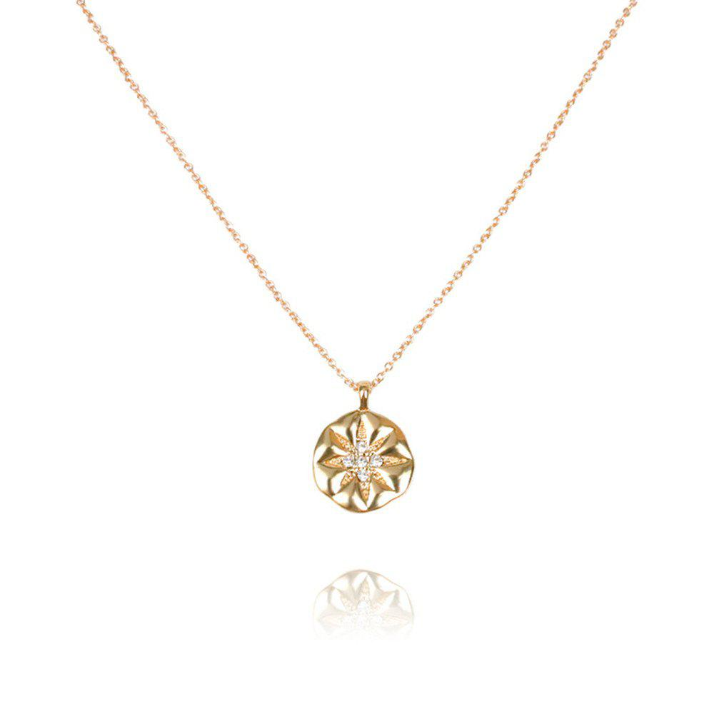 Fashion Classic Pendant Simple Creative Personality Set with Diamond Flowers Necklace