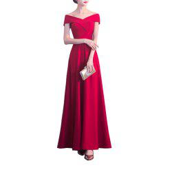 Long Dress Wedding Banquet Evening Slim Fit Cocktail Party for Ladies -