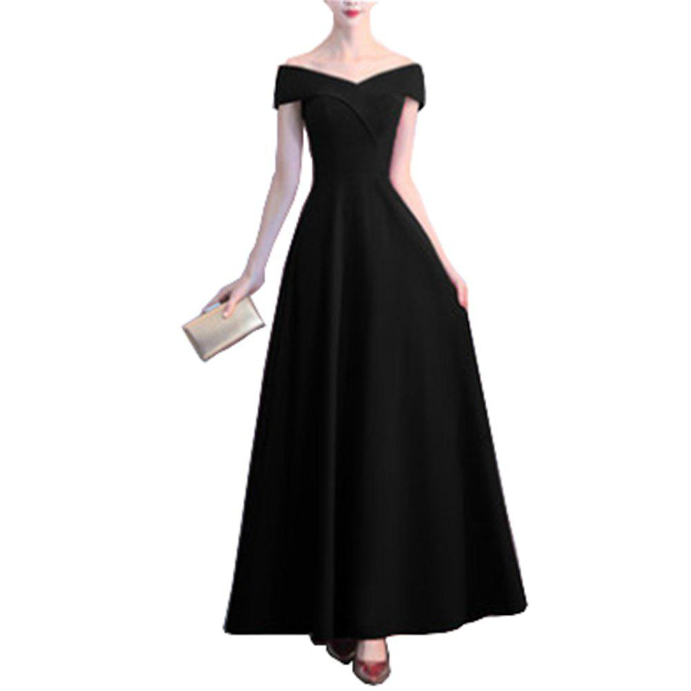 Cheap Long Dress Wedding Banquet Evening Slim Fit Cocktail Party for Ladies