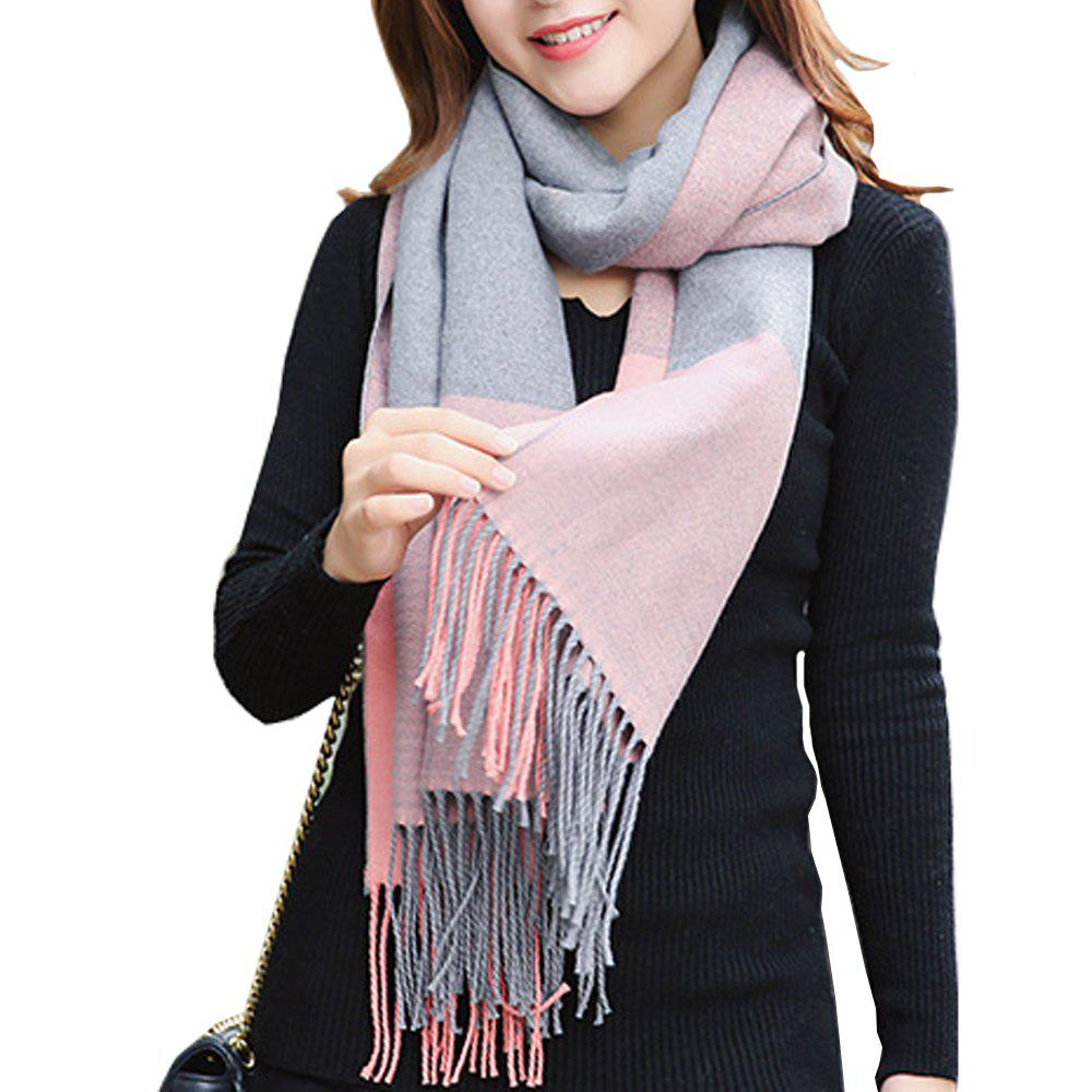 New Fringed Geometric Scarf Female Warm Padded Collar Кашемировый шаль