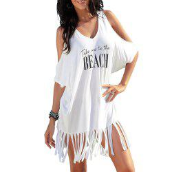 Tassel Printing Beach Group - Blanc Taille Unique