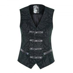 Palace Noble Flower Pattern Printing Waistcoat for Men -