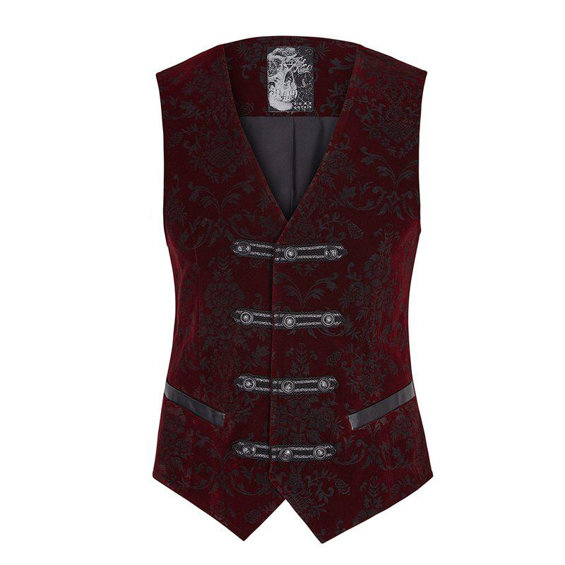 Fashion Palace Noble Flower Pattern Printing Waistcoat for Men