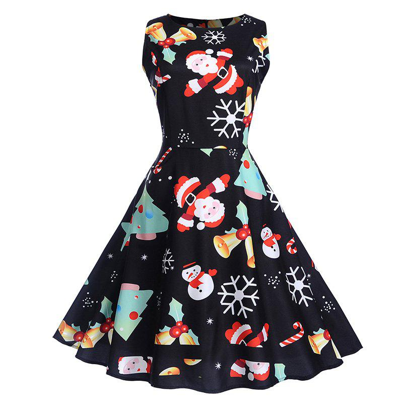 Fashion Halloween Hepburn Style Dress for Christmas