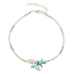 Fashion Conch Starfish Pendant Anklet -