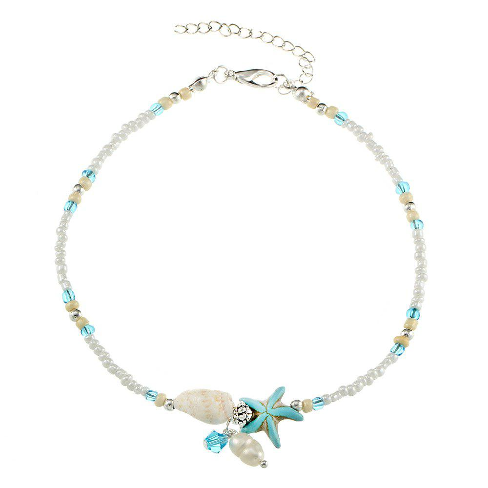 Affordable Fashion Conch Starfish Pendant Anklet