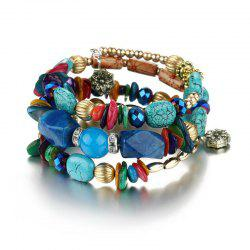 Vintage Multi-Layered Turquoise Twisted Bracelet -