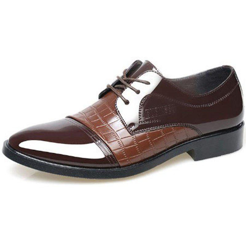 Chic Autumn Men's Business Dress Shoes Black and Brown