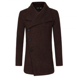 2018 Autumn and Winter New Single-Breasted Men'S Casual Slim Trench Coat -