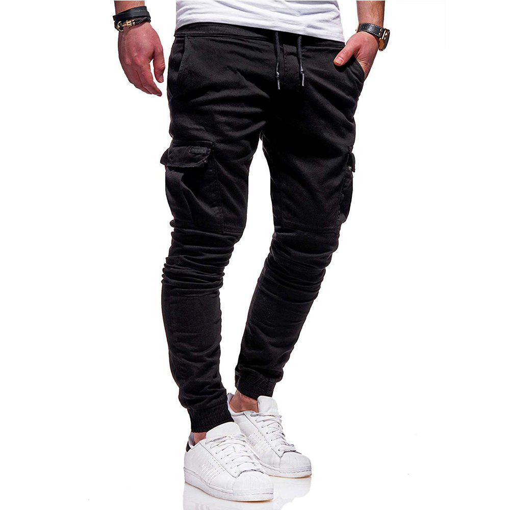 Outfit New Pattern  Fashion Classic Pocket  Tether Slack Pants Trousers Sports Pants