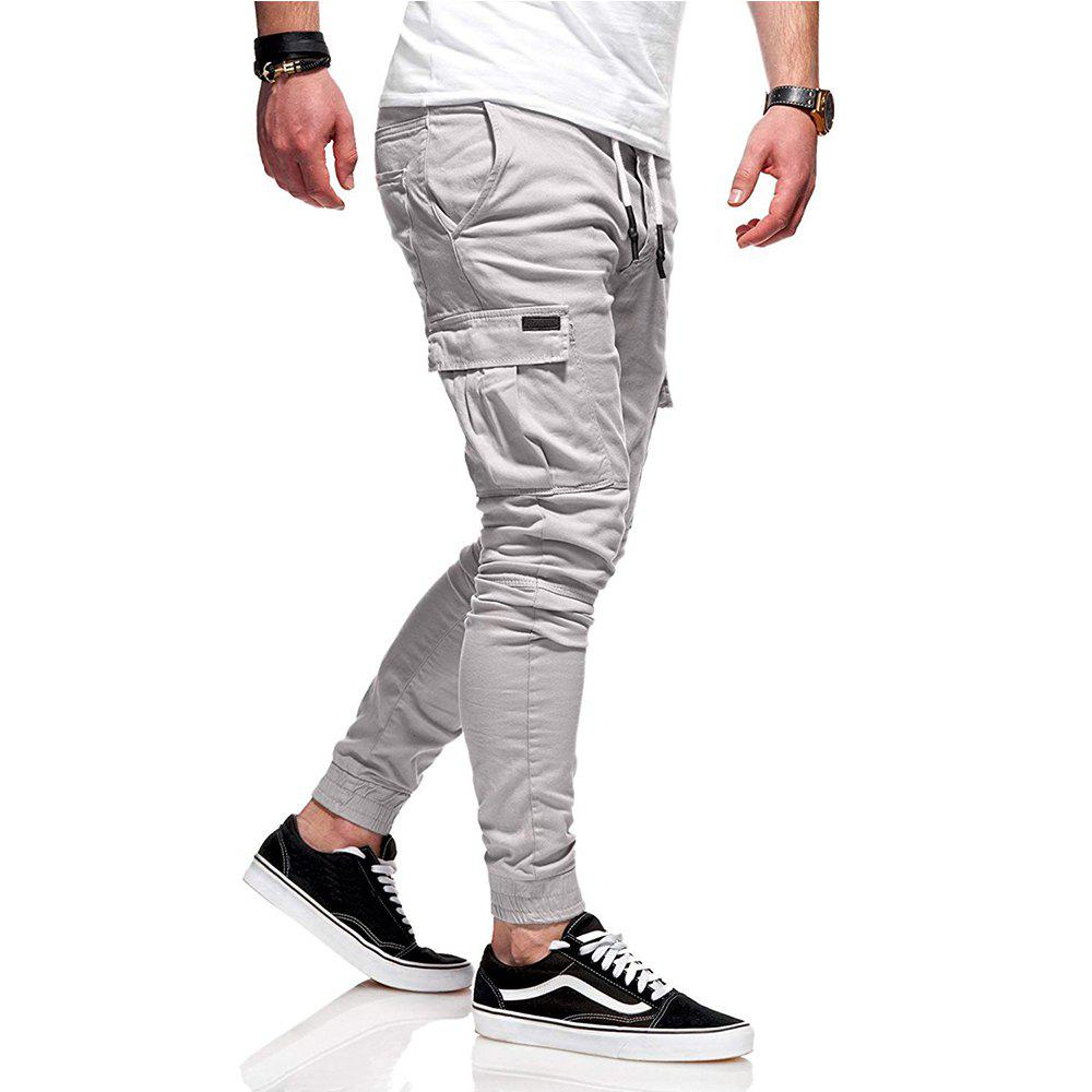 Online New Pattern  Fashion Classic Pocket  Tether Slack Pants Trousers Sports Pants