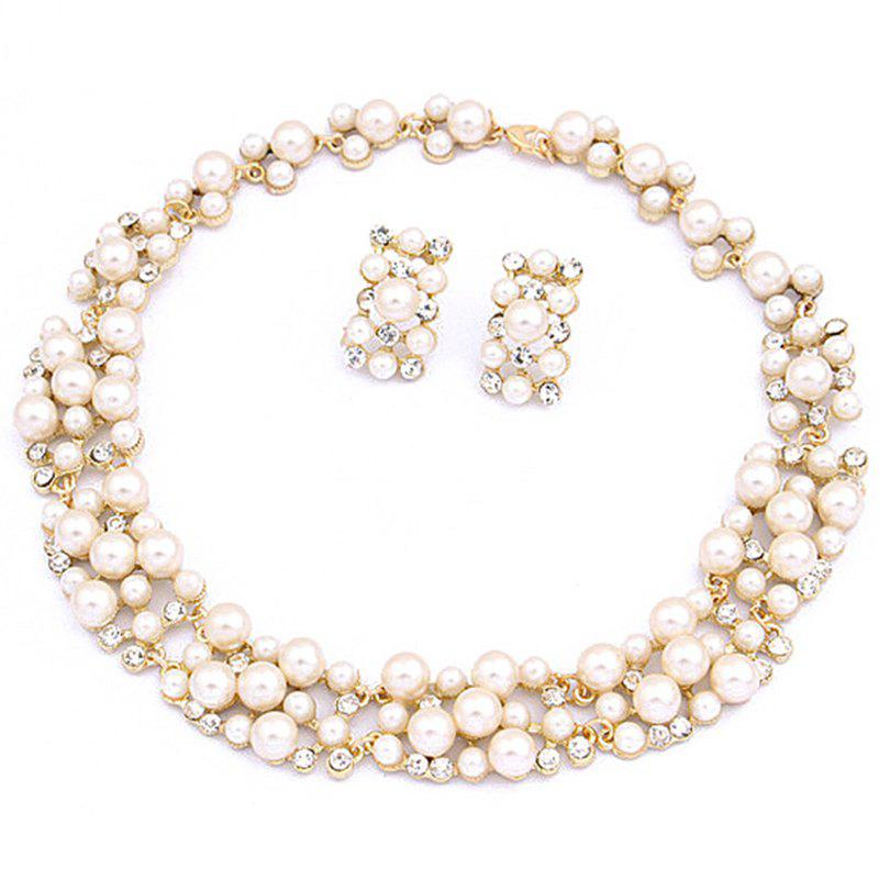 Buy European Style Fashion Pearl Short Necklace Earrings Set Bridal Jewelry