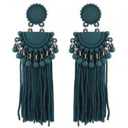 European Style Fashion Metal Ball Tassel Exaggerated Drop Earrings -
