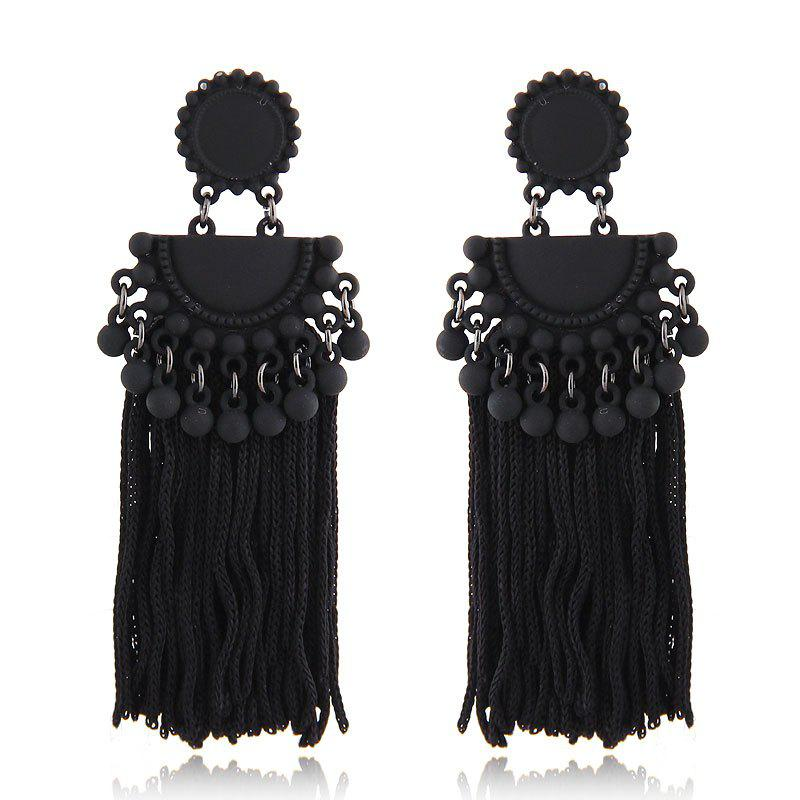 Affordable European Style Fashion Metal Ball Tassel Exaggerated Drop Earrings