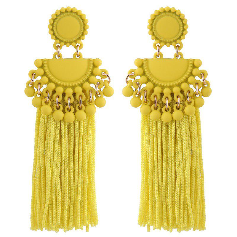 Outfits European Style Fashion Metal Ball Tassel Exaggerated Drop Earrings