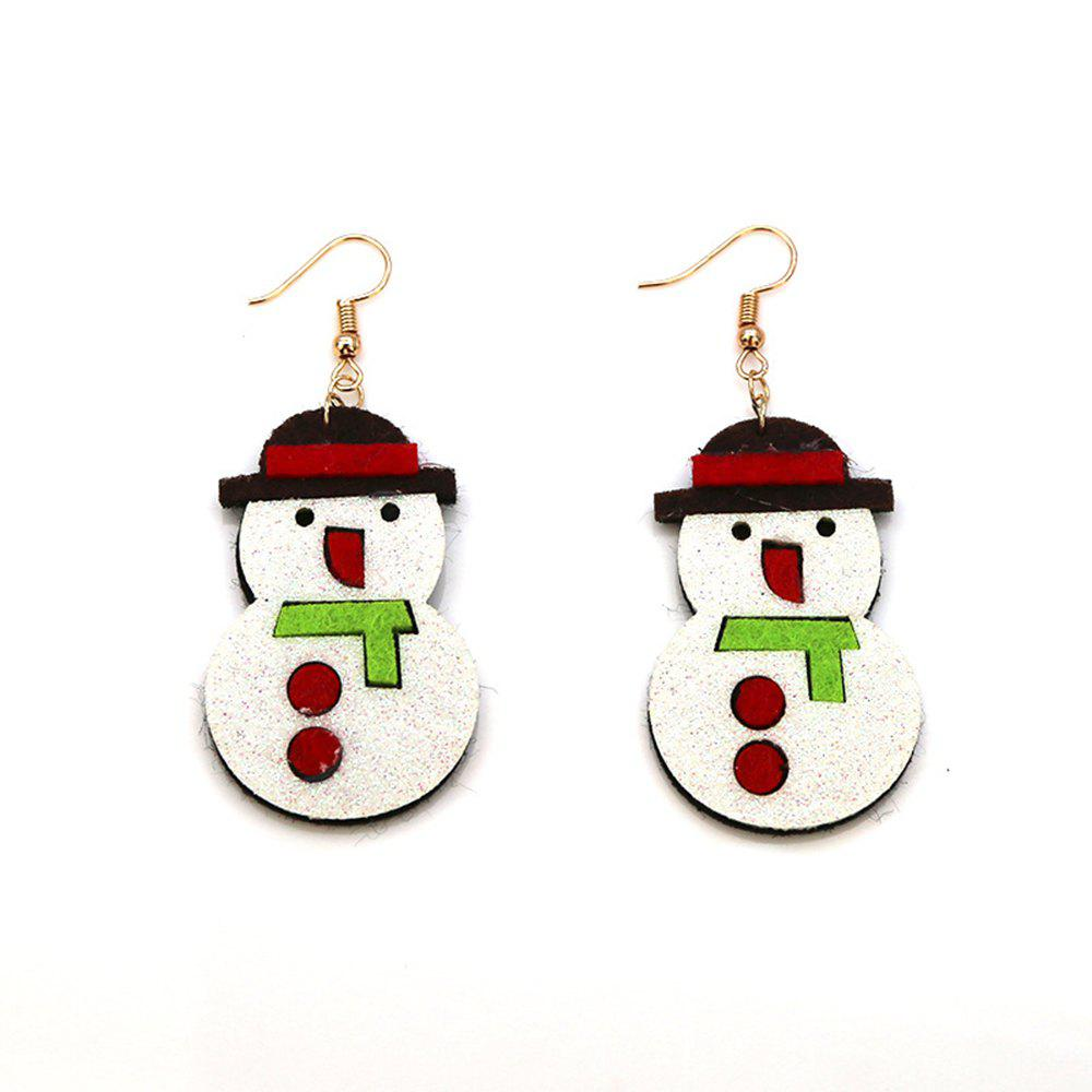 Christmas Ornaments Lovely Earrings Cartoon Christmas Snowman Studs