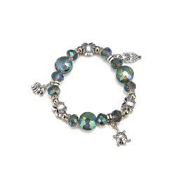 Women'S Fashion Vintage Elephant Owl Butterfly Bead Bracelet -