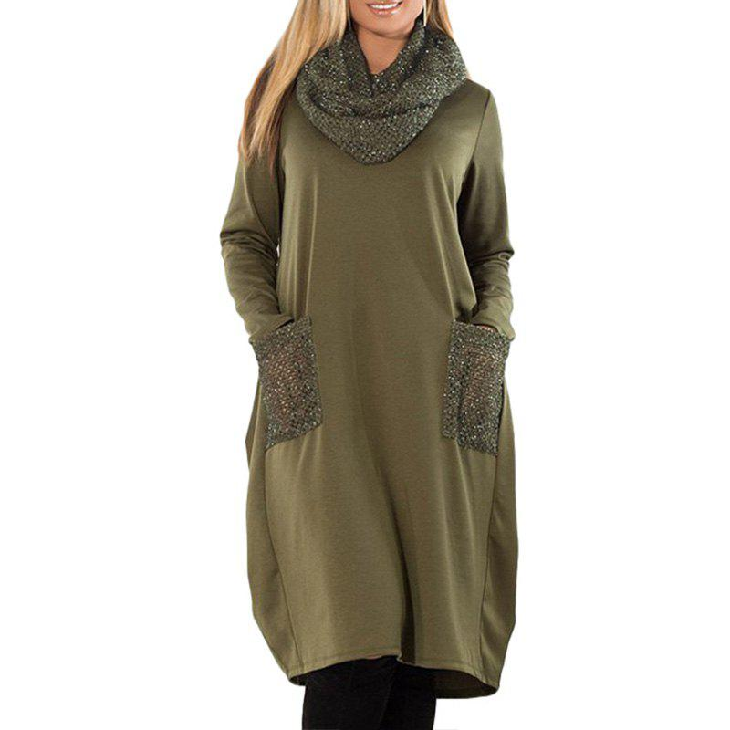 Online 6XL Large Size Women Dress Loose Long Sleeve Dress Plus Size Women