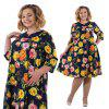New Plus Size Floral Print Rose Women Dress Big Size Summer Dresses Female -
