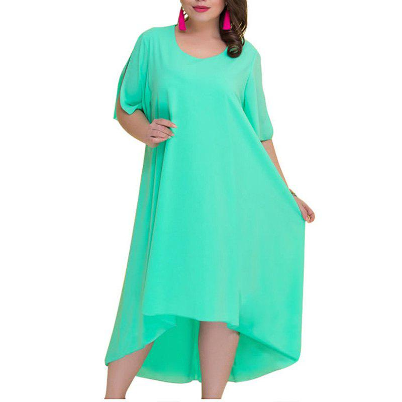 Latest Plus Size Summer Dresses Women Irregular Long Dress Big Size