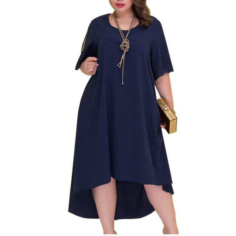 52ad1fa970 Discount Loose Plus Size Summer Dresses Women 2018 Irregular Long Dress Big  Size