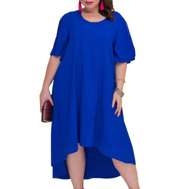 e34afb7c34 Chic Casual Loose Plus Size Summer Dresses Women 2018 Irregular Long Dress  Big Size