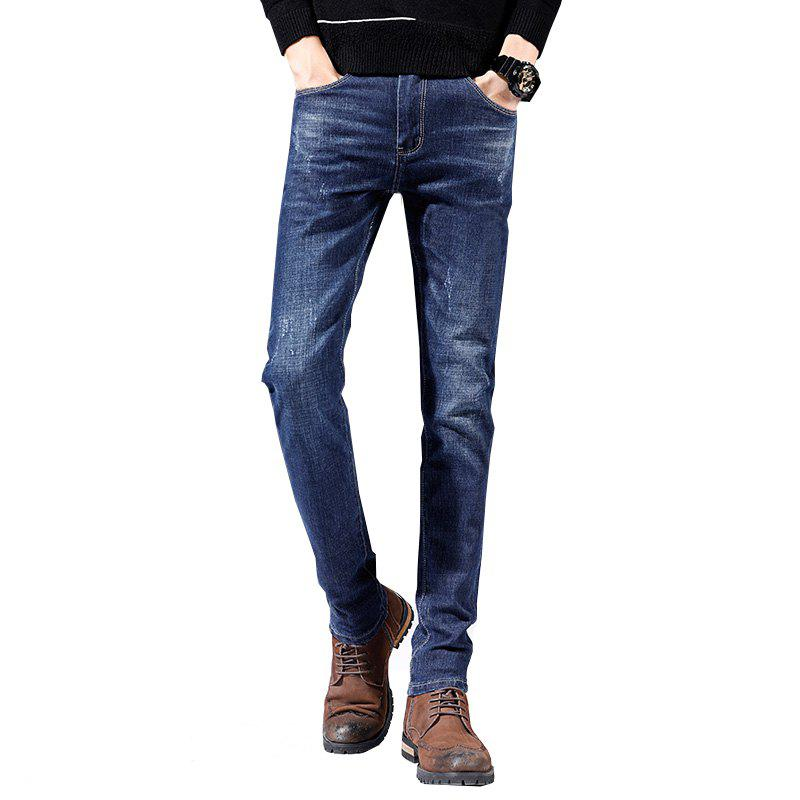 Trendy Men's Casual Sports Slim Large Size Jeans Youth Pants