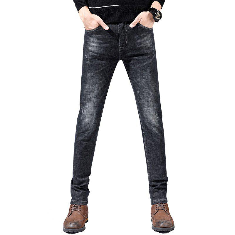 New Men's Casual Sports Slim Large Size Jeans Youth Pants