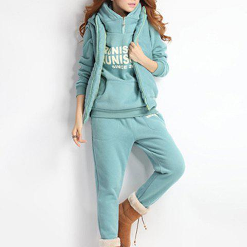 Autumn and Winter Casual Hooded Sweater Sports Fashion Plus Three Sets of Hair