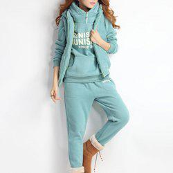Autumn and Winter Casual Hooded Sweater Sports Fashion Plus Three Sets of Hair -