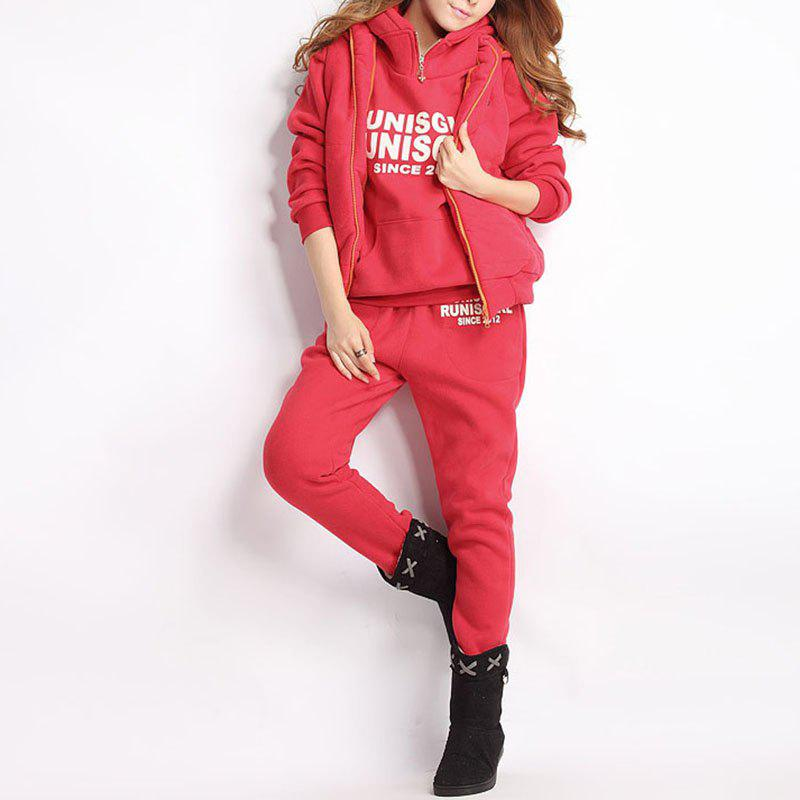 Cheap Autumn and Winter Casual Hooded Sweater Sports Fashion Plus Three Sets of Hair