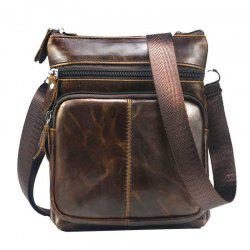 Men Casual Crossbody Male Fashion Genuine Leather Mini Shoulder Messenger Bag -