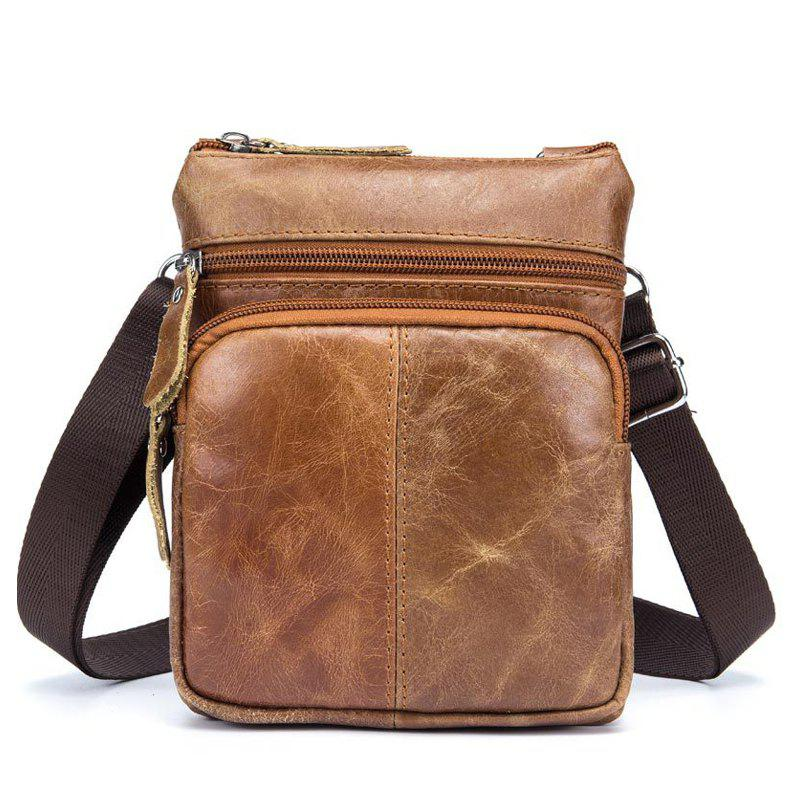 Latest Men Casual Crossbody Male Fashion Genuine Leather Mini Shoulder Messenger Bag