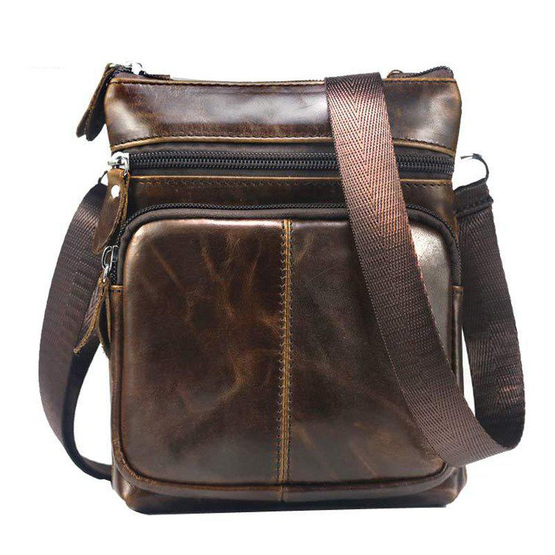 New Men Casual Crossbody Male Fashion Genuine Leather Mini Shoulder Messenger Bag